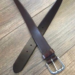 Eddie Bauer Brown Leather Belt Sz 42